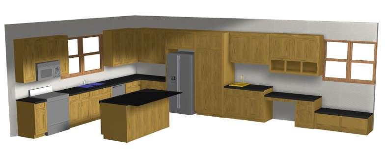 3d cabinet layout